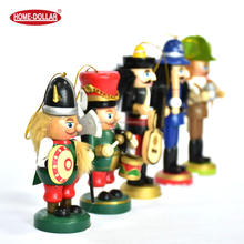 Christmas wooden nutcracker soldier hanging home decoration
