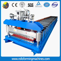 Coloured Sheet Molding Metal Trapezoidal Roofing Machine