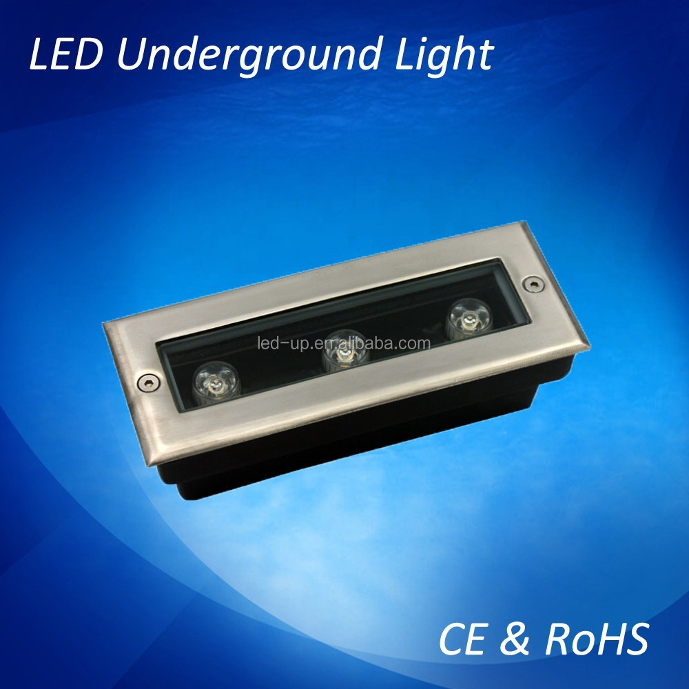 RGB led underground <strong>lights</strong> brass landscape lighting for outdoor use