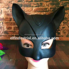 Wholesale Halloween Cosplay Dress Up Party Costume Sexy Catwoman Half Face Latex Mask