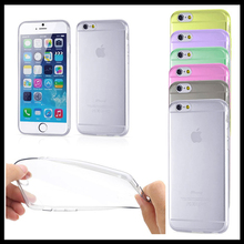 high quality 0.5mm thickness transparent clear TPU mobile phone case for ip6