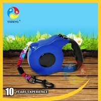Fashionable most popular retractable leash with rubber grip
