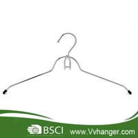 MHC038 Chrom plated metal top hangers with belt hook
