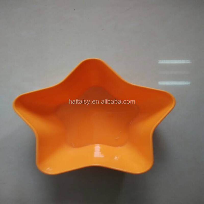 clear acrylic fruit tray in flower color also can be used as candy holder