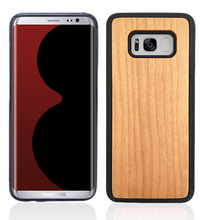 pc+ real wood case for samsung galaxy s8