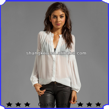 loose lace sleeve fashion women blouse 2013 newest ladies chiffon tops