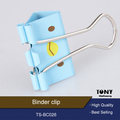 Printing colored decoration stell paper binder clip