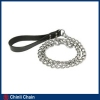 Dog Chain with pvc handle and Safety hook,Chrome Plated Dog Link Chain