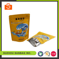 Competitive manufacturer recyclable zipper top aluminium foil bags for food