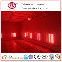 large size infrared bus spraying booth spray paint booth