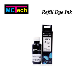 GT51BK dye and pigment ink for hp dektjet gt 5810 5820 series printer
