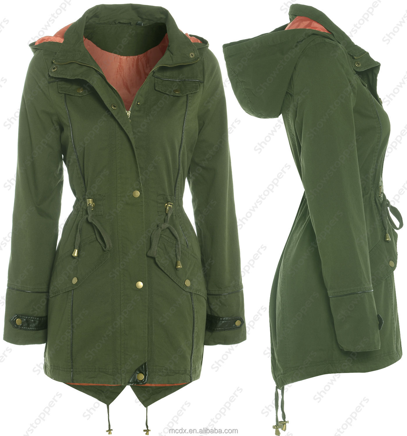 New Ladies Jacket Coat Women's Jacket Hood Pattern Windcheater ...