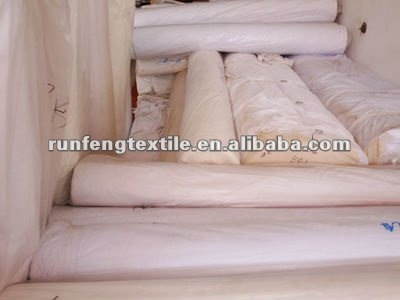 100% cotton white bed fabric
