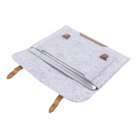 Wool Felt Inner Notebook Laptop Sleeve Bag Case Carrying Handle Bag For Macbook Air/Pro/Retina