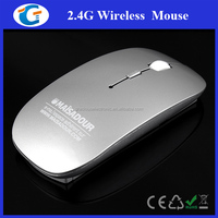 2.4 GHz Flat Optical Wireless Mouse With Nano USB Receiver for Laptop PC Desktop