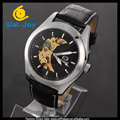 WJ-5673 wholesale men stylish leather band hot sale fancy mechanical watches