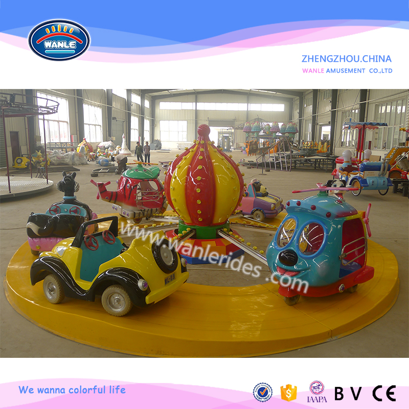 family rides ! used amusement rotating children rides magic flying car for sale
