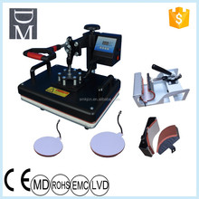 top quality Chinese NO.1 heat press 5 in 1 combo heat press machine /t-shirt printing machine for sale on alibaba