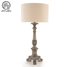 Business LED Carving Wooden Desk Lamp Eiffel Tower Wood Table Lamp For Hotel