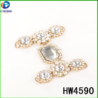 Hw4590 Wholesale Gold And Clear Crystal