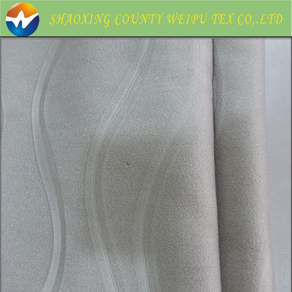 Polyester jacquard cheap blackout curtain fabric in china