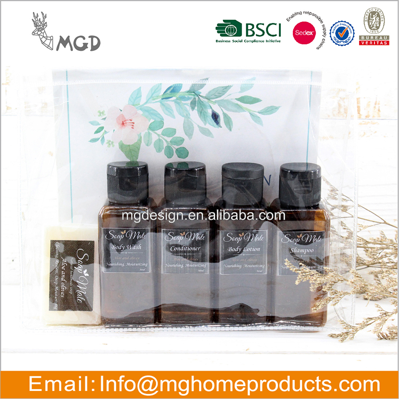 Hotel mini Soap and Shampoo Hotel Amenities Bottle Set