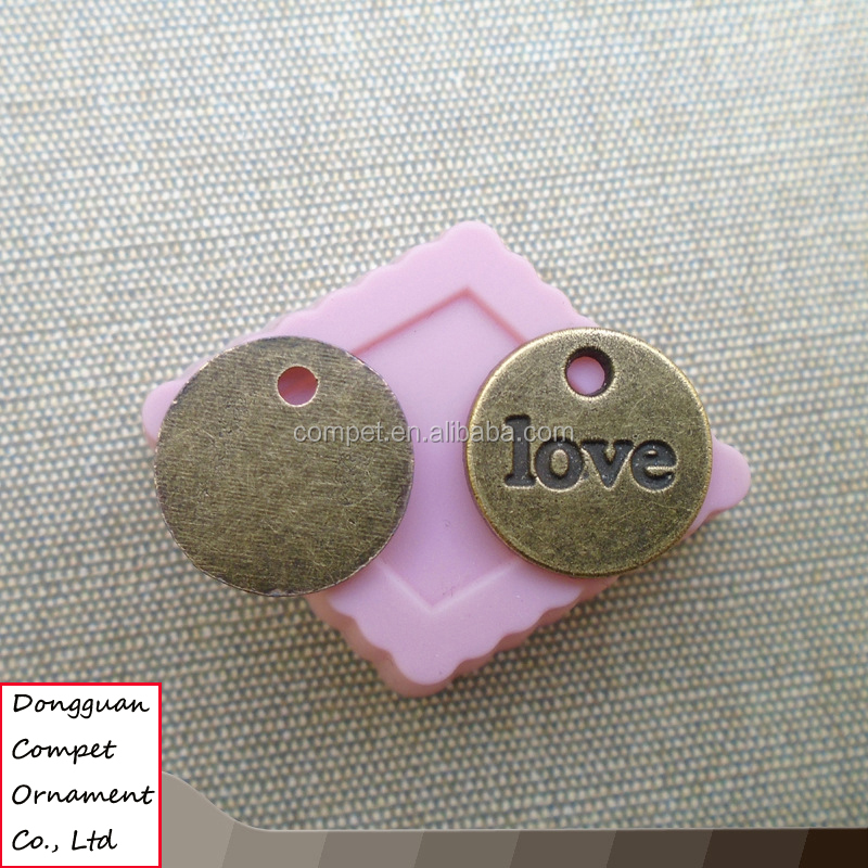 Wholesale round LOVE pendants bronze accessories Ceramic bracelet pendant