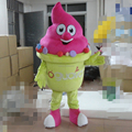 HOLA yellow ice cream mascot costume for sale