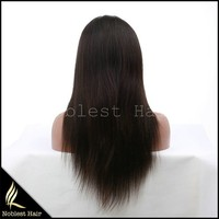ladies silk straight wave natural virgin indian hair lace front wigs