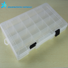 24 modules Plastic Multi Compartment Adjustable Tackle fishing Box