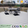 Outdoor balcony light grey atificial decking materials