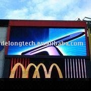 sale DIP 6X3m outdoor led screen display P20 full color waterproof electronic module rental video wall advertising panel board