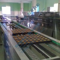 cake production line fully complete automatic cake circular production plant