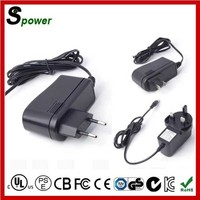 AC/DC 12W 12V 1A Power Supply with CE UL Level VI SAA FCC KC CB PSE GS CUL Certification