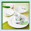 decal tableware set,Eco Friendly Natural Bamboo Fiber dinnerware sets,bamboo dinner set