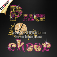Colorful peace love cheer germ stones