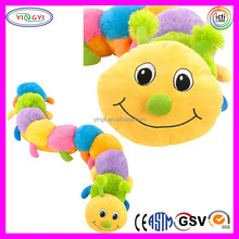 A618 Colorful Soft Baby Toys Caterpillar Plush Animal Caterpillar Stuffed Toy