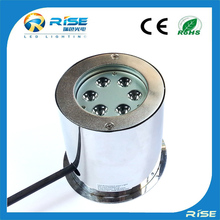Rise new design led 18w 12v low voltage recessed groud underwater swimming pool light replacement bulb