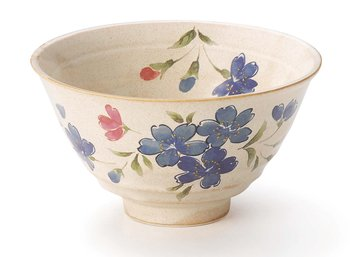 Bushoan sakura rice bowl with red and blue