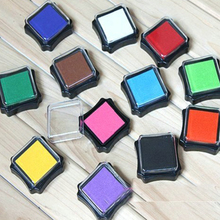 Promotional kids toy cheap square multi-color decorative mini craft stamp ink stamp pad