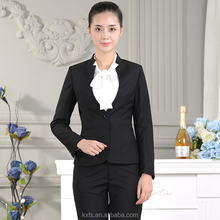 Classic type slim fit office lady business formal wear uniform