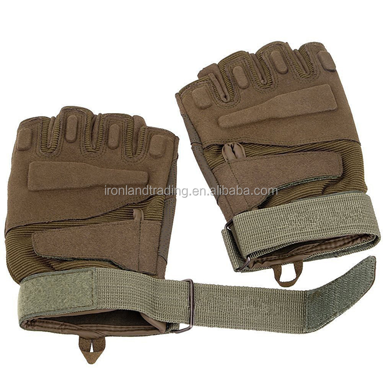 Wholesale low moq fingerless racing military gloves tactical gloves