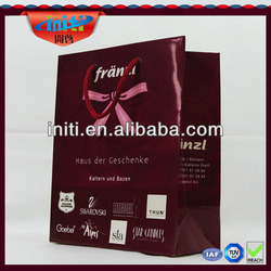 Fashional kraft paper advertising bag 2013 new style reuseable promotional paper bag 200gsm kraft paper shopping bag