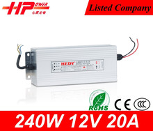 Guangzhou factory 240w 12v led driver dimming constant voltage LED driver 240w 12v 220 volt power supply