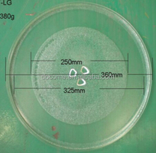 36cm 3flowers microwave oven parts, glass plate, microwave oven glass tray