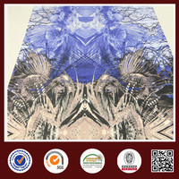 Alibaba china crab print polyester spandex sandwich fabric for clothing
