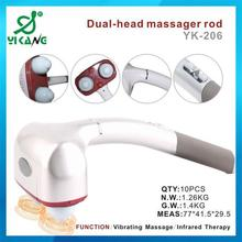 YK-206 Plastic Electric Vibrating Infared Neck Massager Tool 2015