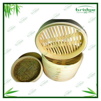 Wood bamboo dumpling steamer for kitchen utensils