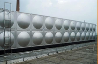 Modern classical upground/underground water tank for water treatment, Galvanized iron water tank, GI water tank for Africa