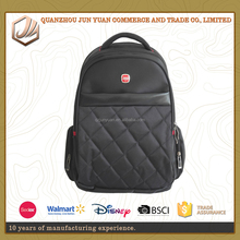 New fashion black 1680D polyester business laptop bags backpack with multi-compartment